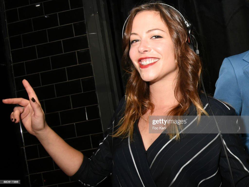 Aurelien Wiik and Dounia Coesens Karaoke Party at la Gioia Restaurant In Paris