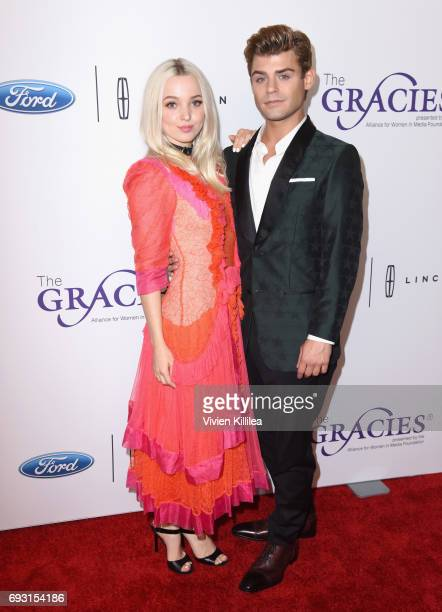 Actors Dove Cameron and Garrett Clayton attend the 42nd Annual Gracie Awards Gala hosted by The Alliance for Women in Media at the Beverly Wilshire...