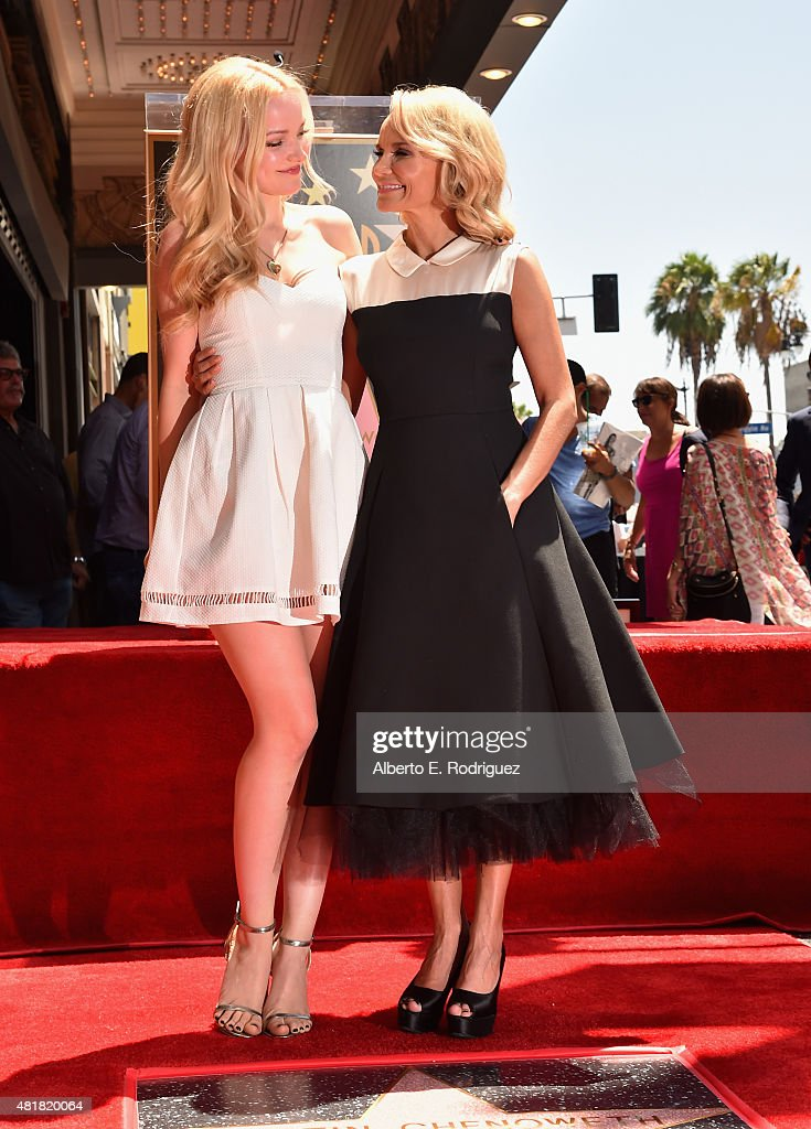 Actors Dove Cameron and Kristin Chenoweth attend a ceremony honoring Kristin Chenoweth with the 2,555th star on the Hollywood Walk of Fame on July 24, 2015 in Hollywood, California.