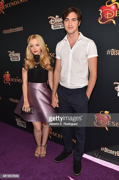 Actors Dove Cameron and Ryan McCartan attend the premiere of Disney Channel's Descendants at Walt Disney Studios on July 24 2015 in Burbank California