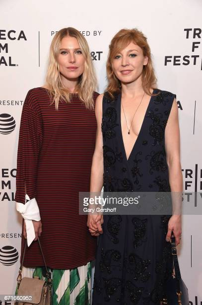 Actors Dree Hemingway and Juliet Rylance attend the Love After Love screening during the 2017 Tribeca Film Festival at SVA Theatre on April 22 2017...
