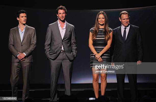 Actors Drew Roy Noah Wyle Moon Bloodgood and Will Patton attend the TEN Upfront 2011 at Hammerstein Ballroom on May 18 2011 in New York City...