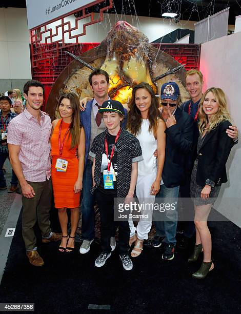 Actors Drew Roy Scarlett Byrne Noah Wyle Maxim Knight Moon Bloodgood Will Patton Doug Jones and Sarah Carter attend TNT at ComicCon International San...