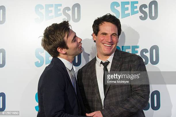 Actors Drew Tarver and Ryan Gaul arrive at the Seeso original screening of 'Bajillion Dollar Properties' season 2 at Ace Hotel on October 5 2016 in...