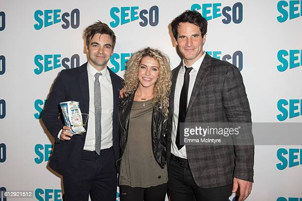Actors Drew Tarver Lindsay Taylor and Ryan Gaul arrive at the Seeso original screening of 'Bajillion Dollar Properties' season 2 at Ace Hotel on...