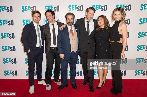 Actors Drew Tarver Ryan Gaul Paul F Tompkins Executive Producers Scott Auckerman and Kulap Vilaysack and actress Mandell Maughan arrive at the Seeso...