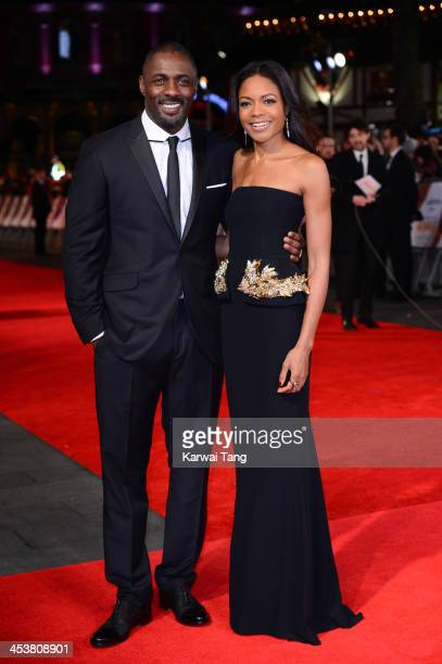 Actors dris Elba and Naomie Harris attend the Royal film performance of Mandela Long Walk To Freedom held at the Odeon Leicester Square on December 5...