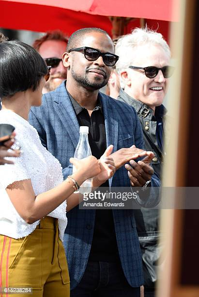 Actors Dule Hill and Bradley Whitford attend actress Allison Janney's Star ceremony on The Hollywood Walk of Fame on October 17 2016 in Hollywood...