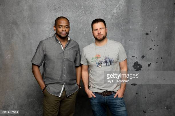 Actors Dule Hill and James Roday from the film 'Psych The Movie' are photographed in the LA Times photo studio at ComicCon 2017 in San Diego CA on...