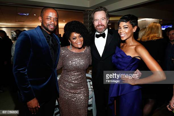 Actors Dule Hill Yvette Nicole Brown Bryan Cranston and Jazmyn Simon attend HBO's Official Golden Globe Awards After Party at Circa 55 Restaurant on...
