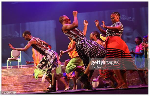 Actors during Madiba The African Opera at the State Theatre on May 22 2014 in Pretoria South Africa The opera focuses on Nelson Mandelas upbringing...