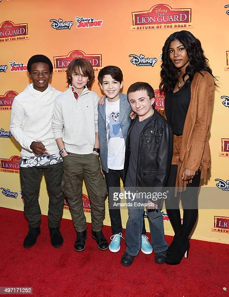 """Actors Dusan Brown, Max Charles, Joshua Rush, Atticus Shaffer and Diamond White arrive at the premiere of Disney Channel's """"The Lion Guard: Return Of..."""