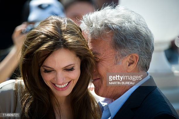 US actors Dustin Hoffman and Angelina Jolie pose during the photocall of KungFu Panda 2 at the 64th Cannes Film Festival on May 12 2011 in Cannes AFP...