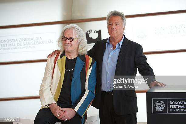 "Actors Dustin Hoffman and Billy Connolly attend the ""Quartet"" photocall at the Kursaal Palace during the 60th San Sebastian International Film..."