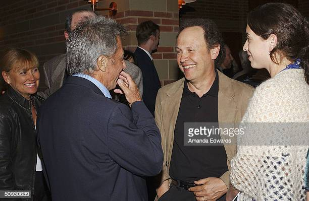 Actors Dustin Hoffman and Billy Crystal attend the 15th Anniversary of the Los Angeles Chamber Orchestra's Silent Film Festival on June 5 2004 at...