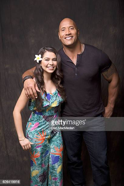 Actors Dwayne Johnson and Aulii Cravalho are photographed for USA Today on November 13 2016 in Santa Monica California PUBLISHED IMAGE