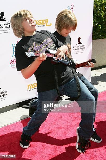 Actors Dylan and Cole Sprouse arrive at the Power of Youth Benefiting St. Jude Children's Hospital at the Globe Theater on October 6, 2007 in...