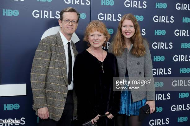 Actors Dylan Baker Becky Ann Baker and daughter Willa Baker attend the New York Premiere of the Sixth Final Season of Girls at Alice Tully Hall...