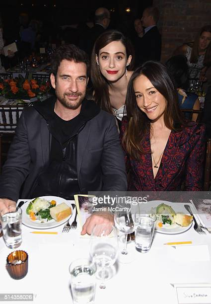 Actors Dylan McDermott Emmy Rossum and Maggie Q attend the New York Notables Gathering at the Best Friends Animal Society Benefit to Save Them All on...
