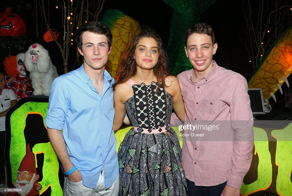 Actors Dylan Minnette, Odeya Rush and Ryan Lee attend 'Goosebumps' party during Summer Of Sony Pictures Entertainment 2015 at The Ritz-Carlton Cancun on June 12, 2015 in Cancun, Mexico. #SummerOfSonyPictures #GoosebumpsMovie
