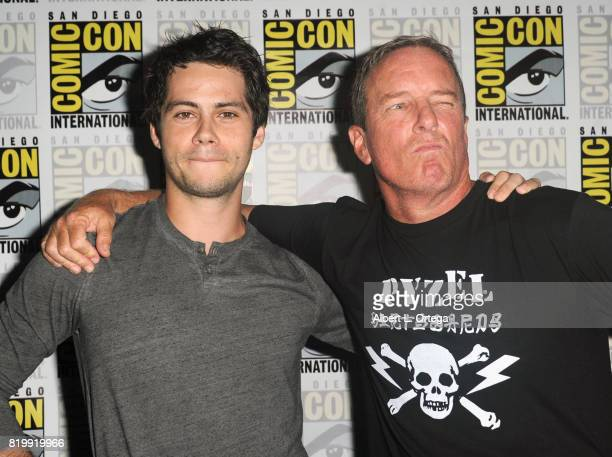 Actors Dylan O'Brien and Linden Ashby attend the 'Teen Wolf' panel during ComicCon International 2017 at San Diego Convention Center on July 20 2017...