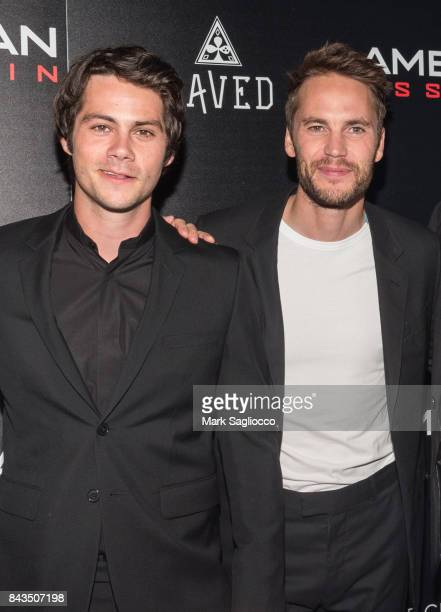 Actors Dylan O'Brien and Taylor Kitsch attend The Cinema Society Screening of CBS Films' 'American Assassin' at iPic Theater on September 6 2017 in...