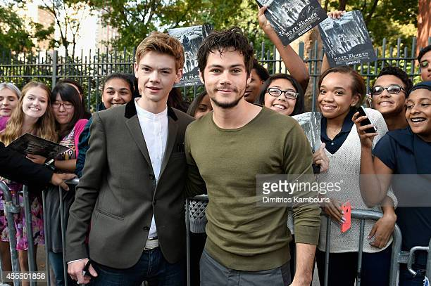 Actors Dylan O'Brien and Thomas BrodieSangster attend the 'Maze Runner' New York City screening hosted by Twentieth Century Fox and Teen Vogue at SVA...