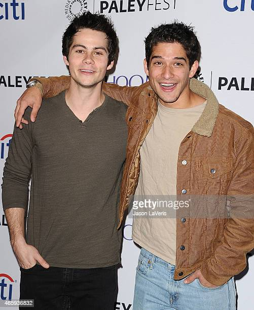 Actors Dylan O'Brien and Tyler Posey attend the Teen Wolf event at the 32nd annual PaleyFest at Dolby Theatre on March 11 2015 in Hollywood California