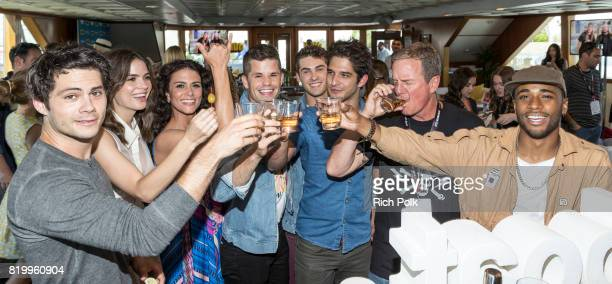 Actors Dylan O'Brien Shelly Hennig Melissa Ponzio Charlie Carver Cody Christian Tyler Posey Linden Ashby and Khylin Rhambo at the #IMDboat At San...