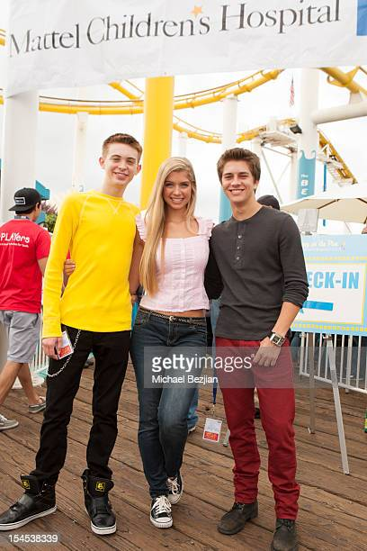 Actors Dylan Riley Snyder Alexandria DeBerry and Billy Unger attend Mattel Party On The Pier Benefiting Mattel Children's Hospital UCLA Inside at...