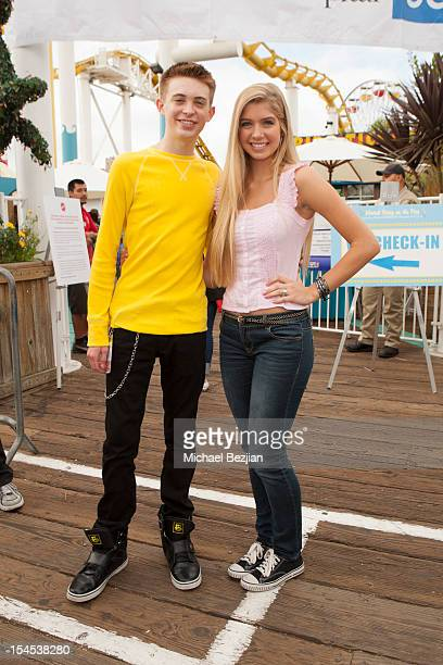 Actors Dylan Riley Snyder and Alexandria DeBerry attend Mattel Party On The Pier Benefiting Mattel Children's Hospital UCLA Inside at Pacific Park –...