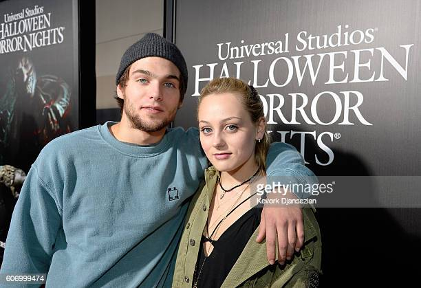 Actors Dylan Sprayberry and Ellery Sprayberry attend Universal Studios 'Halloween Horror Nights' opening night at Universal Studios Hollywood on...