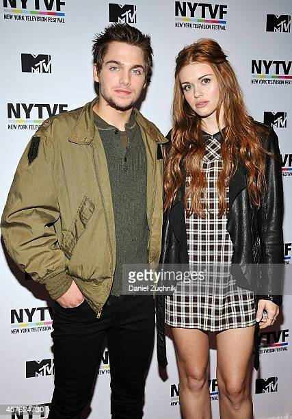 Actors Dylan Sprayberry and Holland Roden attend the New York Television Festival panel 'Teenage Wasteland Navigating High School With The Next MTV...