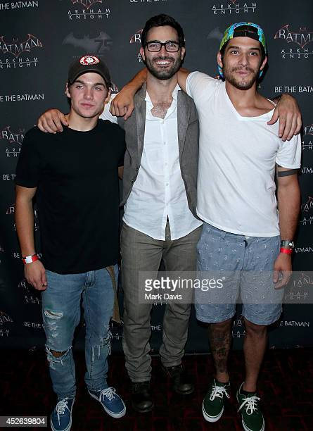 Actors Dylan Sprayberry Tyler Hoechlin and Tyler Posey attend Warner Bros Interactive Entertainment's 'Cape/Cowl/Create' event in downtown San Diego...