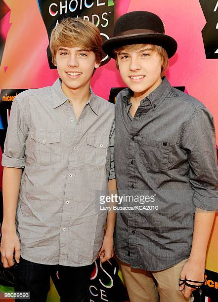 Actors Dylan Sprouse and Cole Sprouse arrive at Nickelodeon's 23rd Annual Kids' Choice Awards held at UCLA's Pauley Pavilion on March 27 2010 in Los...