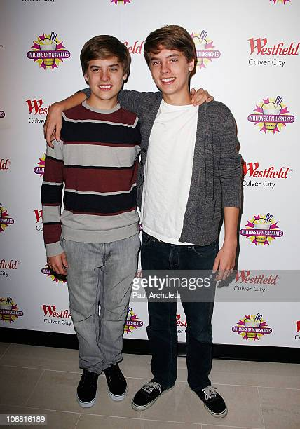 Actors Dylan Sprouse and Cole Sprouse attend their charity milkshake launch at Millions of Milkshakes on November 13 2010 in Culver City California
