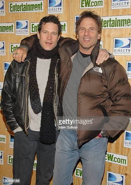 Actors Dylan Walsh and Hart Bochner attend Entertainment Weekly's Sundance opening weekend party sponsored by DIRECTV at the Legacy Lodge on January...