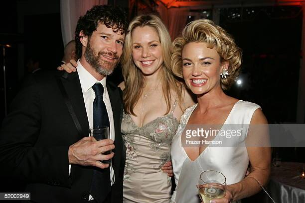 Actors Dylan Walsh Andrea Roth and Kelly Carlson pose at the Fox Golden Globe After Party at the Beverly Hilton Hotel on January 16 2004 in Beverly...