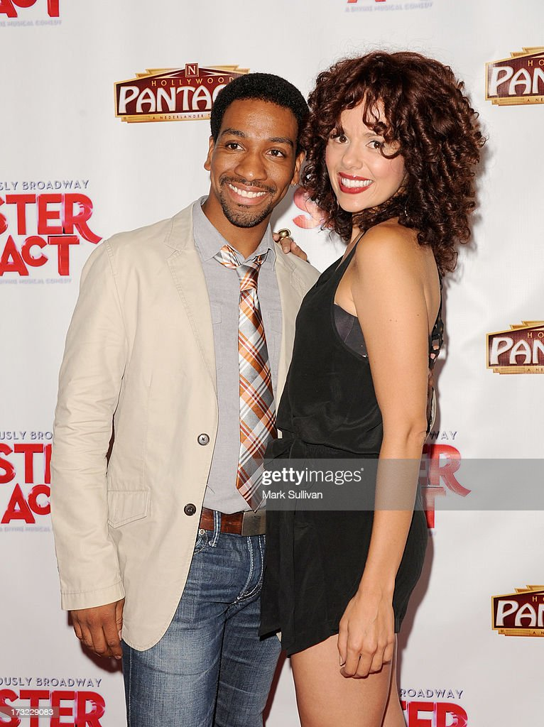 Actors E. Clayton Cornelious (L) and Janet Dacal attend the premiere of 'Sister Act' at the Pantages Theatre on July 9, 2013 in Hollywood, California.