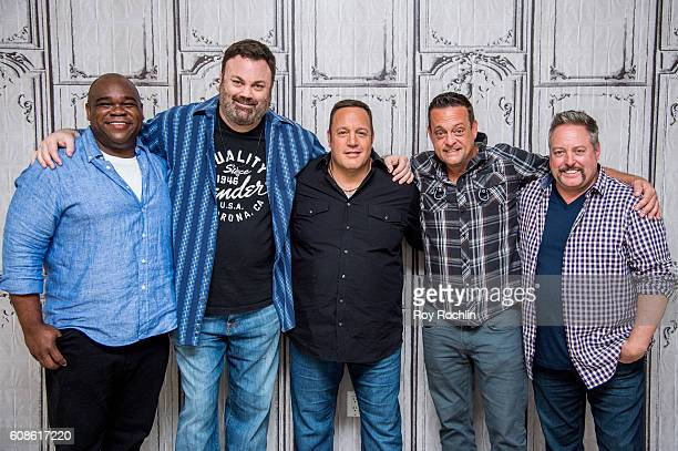 Actors Earl Howze Chris Roach Kevin James Lenny Venito and Gary Valentine attend 'Kevin Can Wait' during AOL Build at AOL HQ on September 19 2016 in...