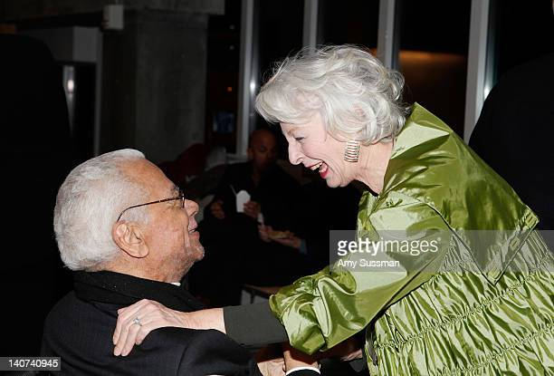 "Actors Earle Hyman and Jane Alexander attend the ""Edward Albee's The Lady From Dubuque"" opening night at the End Stage Theater at the Pershing Square..."