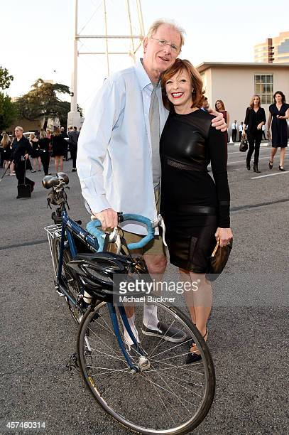 Actors Ed Begley Jr and Frances Fisher attend the 24th Annual Environmental Media Awards presented by Toyota and Lexus at Warner Bros Studios on...