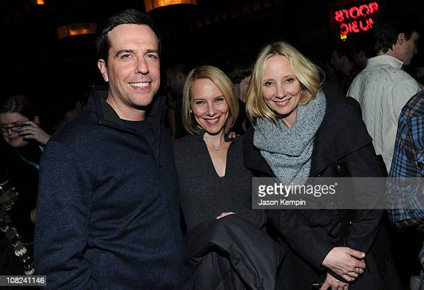 Actors Ed Helms Amy Ryan and Anne Heche attends the Win Win Party at The Distillery on January 21 2011 in Park City Utah