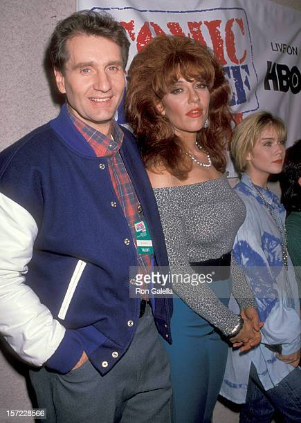 Actors Ed O'Neill and Katey Sagal attend the Comic Relief III Benefit on March 18 1989 at Universal Amphitheatre in Universal City California