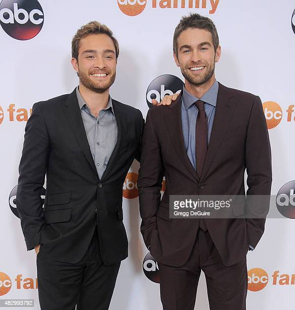 Actors Ed Westwick and Chace Crawford arrive at the Disney ABC Television Group's 2015 TCA Summer Press Tour on August 4 2015 in Beverly Hills...