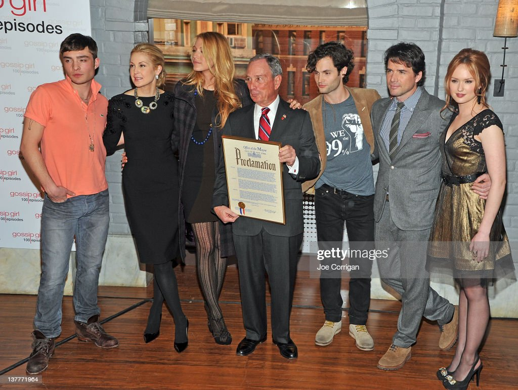 Mayoral Proclamation In Celebration Of The 'Gossip Girl' 100th Episode : News Photo