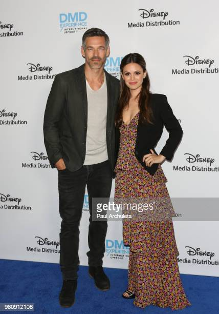 Actors Eddie Cibrian and Rachel Bilson attend the Disney/ABC International Upfronts at the Walt Disney Studio Lot on May 20 2018 in Burbank California