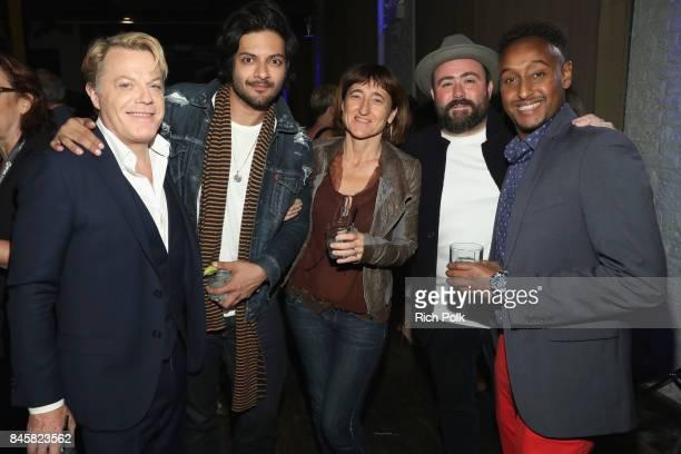 Actors Eddie Izzard Ali Fazal director Beeban Kidron actors Celyn Jones and Mohamed Hakeem attend The Annual IMDb Dinner Party At The 2017 Toronto...