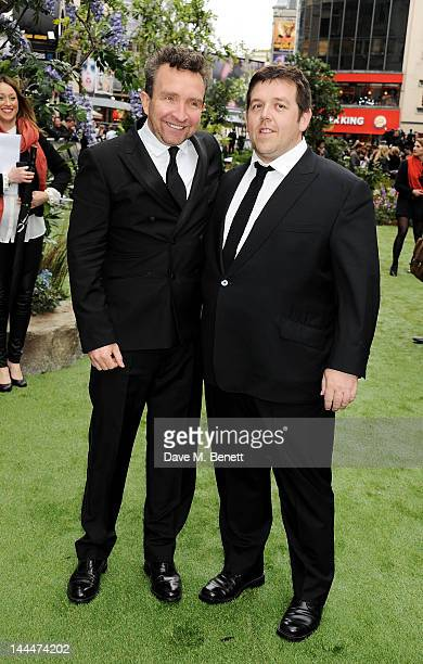 Actors Eddie Marsan and Nick Frost attend the World Premiere of 'Snow White And The Huntsman' at Empire Leicester Square on May 14 2012 in London...