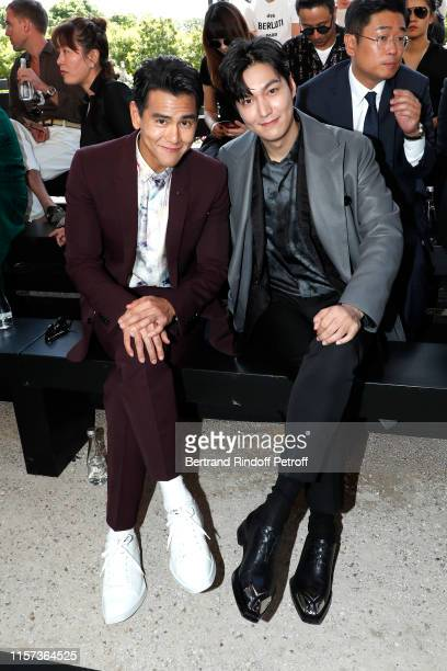 Actors Eddie Peng and Lee Min Ho attend the Berluti Menswear Spring Summer 2020 show as part of Paris Fashion Week on June 21 2019 in Paris France